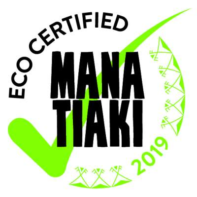 Mana Tiaki Eco Certification badge